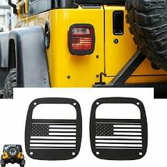 Metal Tail Light Guards Covers Rear Taillights 1987-2006 Jeep ...