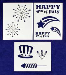 Patriotic Stencils 3 Piece Set-Independence Day Painting/Craft...