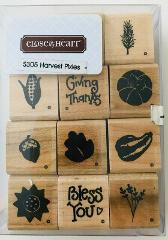Harvest Pixies 12 Mini Rubber Stamps Close To My Heart #S305 i...