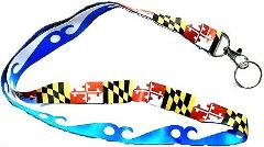 Maryland Flag and Blue Wave Ocean City Double Sided Souvenir L...
