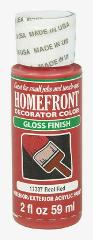 Homefront Decorator Color GLOSS REAL RED Hobby Paint 2 oz Inte...
