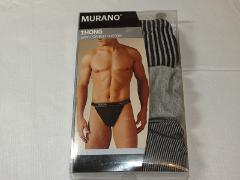 Murano Underwear Thong 3 pack Men's S 28-30 100% Combed Cotton...