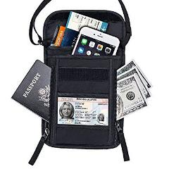 Passport Holder FREETOO RFID Neck Stash Travel Wallet Pouch fo...