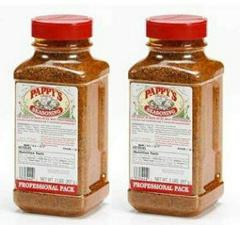 2 Bottles of Pappy's Choice Seasoning 4 LB of BBQ RUB Smoker S...