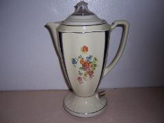 Art Deco Porcelier Coffeepot Electric Percolator w/ Cord Complete