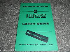 LUCAS ELECTRICAL EQUIPMENT SHOP SERVICE REPAIR MANUAL