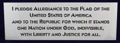 Pledge Of Allegiance Stencil -14 mil Mylar Painting/Crafts