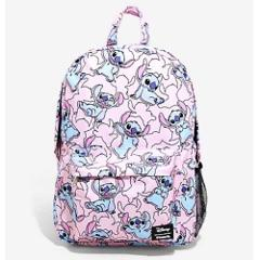 Disney Stitch Pink Backpack Loungefly All Over Print Loungefly