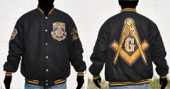 Freemason Masonic Fraternity Jacket Wool Freemason Coat Letter...