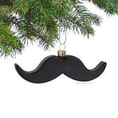 Mustache Ornament Christmas Tree Funny Moustache Humor Xmas