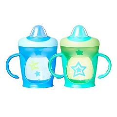 Tommee Tippee Hold Tight Trainer Sippee Cup 9 oz. 2 Count Colo...