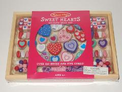 Melissa & Doug Sweet Hearts Wooden Bead Activity Set SEALED