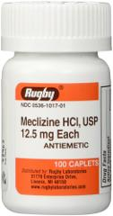 Meclizine Tablets 12.5mg 100ct