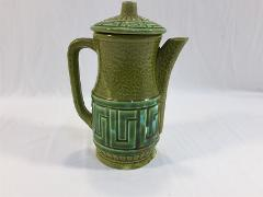 Vintage Royal Sealy Made in Japan Green Tea Pot Greek Key