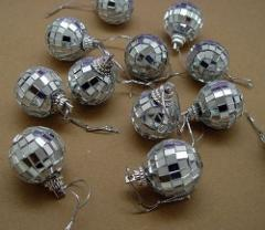 12 each Mirror Ornaments 1-1/8