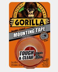 Gorilla MOUNTING TAPE Tough Clear Double-Sided In/Out Holds 15...
