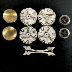 Drawer Cabinet Pulls Backplates Mix & Match White Gold Metal V...