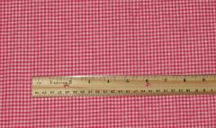 Hot Pink Gingham Fabric Material 100% Cotton 2 Yards x 45