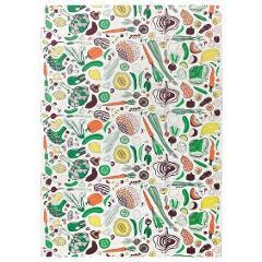IKEA Hemtrevnad Farmers Market Multicolour Cotton Fabric Veget...