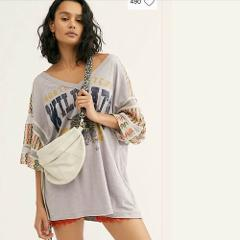 Free People We The Free Casbah Tee Heather Grey XSmall XS $128...