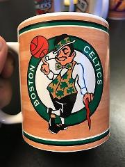 Custom Made Boston Celtics 11oz Coffee Cup with your name.