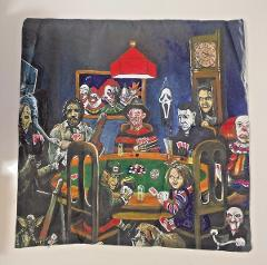 Horror Movie Halloween Villains Poker Pillow Cover Chucky Jaso...