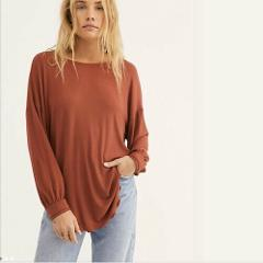 Free People Shimmy Shake Top Army Brick Low Open Back Top Smal...
