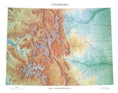 Colorado Topographical Wall Map by Raven Maps, 43