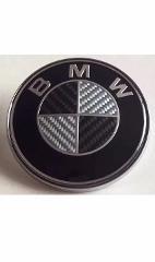 BMW 82mm Carbon Fibre Bonnet Hood Badge Emblem