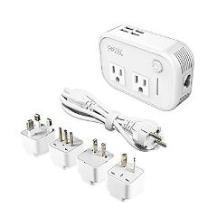 Foval International Travel Adapter Power Step Down 220v to 110...