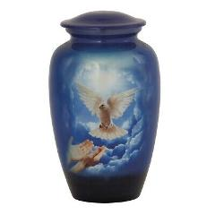 Large/Adult 210 Cubic Inch Metal Doves Funeral Cremation Urn f...