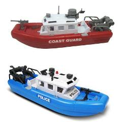 Toy Boat Police Coast Guard Rescue Boat Battery Operated