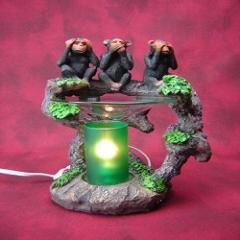 Monkey Fragrance Lamp Oil Wax Warmer Burner Electric Polyresin...