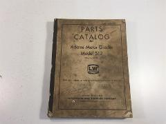 Adams Motor Grader Model 512 Parts Catalog LeTourneau Westingh...