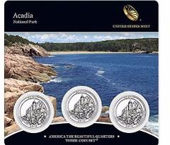 2012 US Mint America The Beautiful 3 Coin Set Acadia National ...