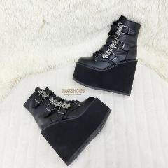 Swing 103 Bat Buckle Ankle Boots 5.5
