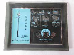 1966 New Orleans Bowling NOWBA 25th Anniversary Glass Plate Tr...