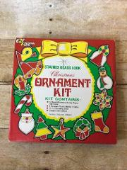 EZE FORM Stained Glass Look Christmas Ornament Kit - NOS Makes...