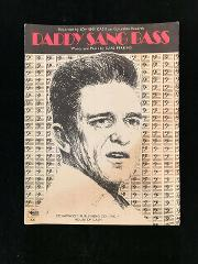 1968 Daddy Sang Bass Songbook Johnny Cash Words and Music By C...