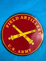 US Army Field Artillery Cross Cannons Red Gold Magnetic Decal ...