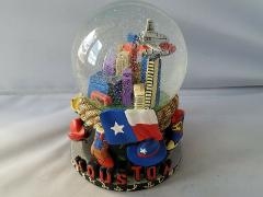 Vintage Houston Snow Globe Decorative Paperweight Multi-Color ...