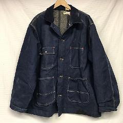 VTG SEARS Men's Blue Denim Barn Coat Chore LIned Jacket/Coat ...