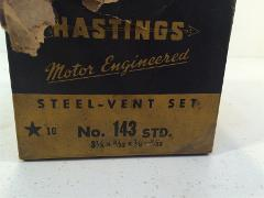 Vintage Hastings Steel-Vent Ring Set No. 143 STD 3-1/8