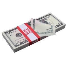 $5 Bills - $500 - Full Print Stack For Movie Video Play Fake R...