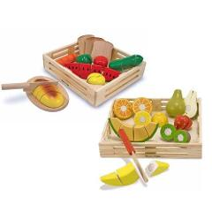Melissa & Doug Wooden Cutting Food Value Pack Play Food Set