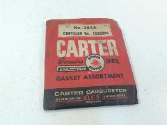 Vintage Carter Carburetor Gasket Assortment 282A Chrysler 1826...