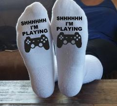 SHHHH I'm Playing, Video Games, XBox, Playstation, PS4, PS3, X...