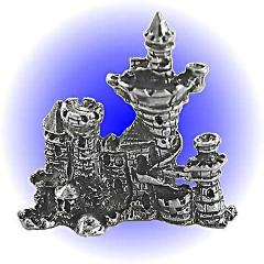 Pewter WAR CASTLE FIGURINE Lead Free Miniature Statue