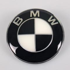 BMW Bonnet Badge Emblem Black 82MM E36 E46 E60 F10 E61 E81 E87...