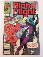 Alpha Flight #21 Comic Book Marvel 1984
